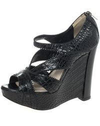 Dior - Crocodile Sandals - Lyst