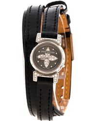 Louis Vuitton - Grey Stainless Steel Diamond Tambour Bijou Q151k Women's Wristwatch 18 Mm - Lyst