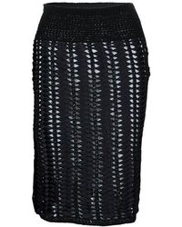 Chanel - Crochet Detailing Geometric Textured Skirt S - Lyst