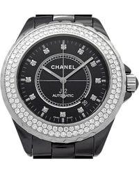 Chanel - Ceramic And Stainless Steel Diamond J12 Men's Wristwatch 42mm - Lyst