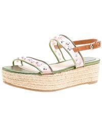 37264f1d2be Dior - Multicolor Leather And Pvc Joy Espadrilles Platform Sandals Size 38  - Lyst