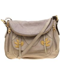 Marc By Marc Jacobs - Beige Leather Petal To The Metal Natasha Bird Hobo - Lyst