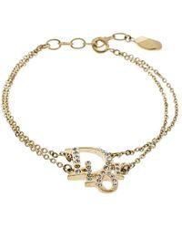 Dior - Oblique Crystal Tone Bracelet 19cm - Lyst