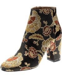 8db75a89add Multicolour Floral Jacquard Fabric Ankle Boots Size 37