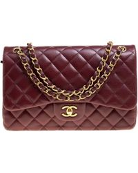 Chanel - Quilted Caviar Leather Jumbo Classic Double Flap Bag - Lyst
