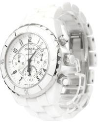 Chanel - Ceramic Chronograph J12 Men's Wristwatch 41mm - Lyst