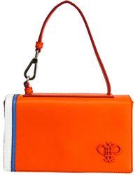 Emilio Pucci - Orange Leather Micro Pilot Shoulder Bag - Lyst