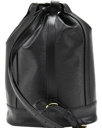 Louis Vuitton - Black Epi Leather Randonee Backpack - Lyst