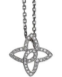 Louis Vuitton - Diamond White Gold Quatrefoil Pendant Necklace - Lyst