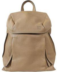 Loewe Brown Leather Backpack