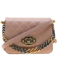 a0b3a74752b8 Chanel Pink Quilted Lambskin Leather