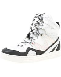 Marc By Marc Jacobs - Monochrome Leather And Mesh High Top Trainers - Lyst