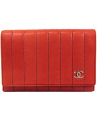 44f87d9479d5d3 Chanel Pre-owned Mademoiselle Zip Around Long Wallet in Black - Lyst