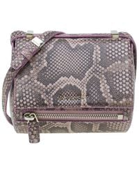 Givenchy Pink Python Mini Pandora Box Crossbody Bag