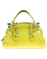 Dior - Pre-owned Green Leather Handbags - Lyst
