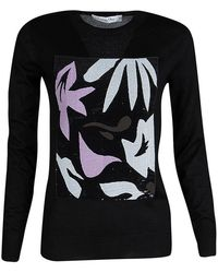 Dior - Sequined Panel Detail Cashmere Sweater M - Lyst