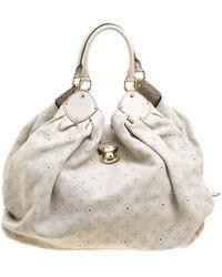 Louis Vuitton - Cappuccino Monogram Mahina Leather Xl Bag - Lyst