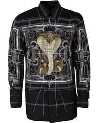Givenchy - Cotton Berlin Cobra Print Long Sleeve Button Front Shirt M - Lyst