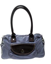 Lancel - Metallic Nylon And Leather Bowling Bag - Lyst