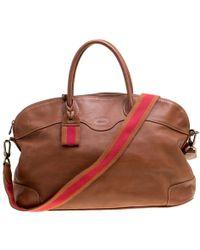 Longchamp - Leather Au Sultan Top Handle Bag - Lyst