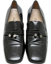 2a67b957474 Lyst - Louis Vuitton Damier-infini Loafers Leather Shoes Black ...
