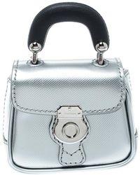 2a6080fca021 Burberry - Grey black Patent Leather Dk88 Bag Charm - Lyst