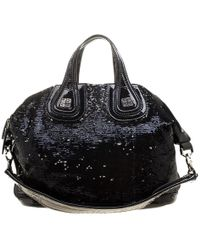Givenchy - Sequin And Patent Leather Medium Nightingale Tote - Lyst