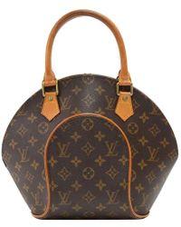 5e1fb0461e28 Lyst - Louis Vuitton Monogram Canvas Handbag M51130 Alma in Brown