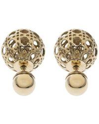 Dior - Mise En Es Cannage Tone Stud Earrings - Lyst
