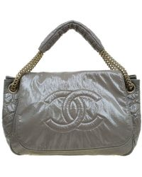 796f0fcfaa6b Chanel - Olive Green Patent Leather Rock And Chain Accordion Flap Bag - Lyst