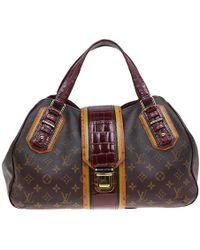 Louis Vuitton - Monogram Limited Edition Bordeaux Mirage Griet Exotic Bag - Lyst