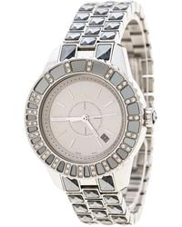 Dior - Pre-owned Silver Steel Watches - Lyst