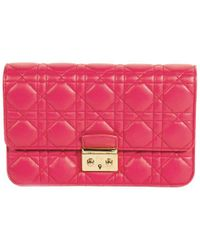 Dior - Cannage Quilted Lambskin Miss Promenade Pouch Clutch Bag - Lyst