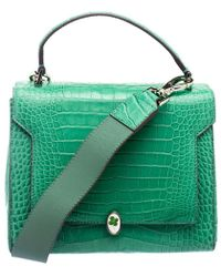 Anya Hindmarch - Emerald Alligator Bathurst Bag - Lyst