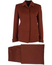 Burberry - Rust Wool Skirt Suit S - Lyst