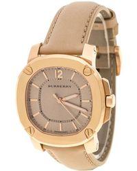 Burberry - Beige Rose Gold Plated Bby1503 Women's Wristwatch 36 Mm - Lyst