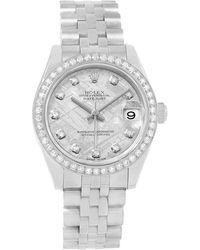 Rolex - Meteorite 18k White Gold And Stainless Steel Diamond Datejust Men's Wristwatch 31mm - Lyst