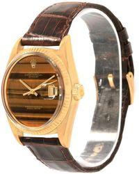 Rolex - Tiger Eye 18k Yellow Gold Datejust Men's Wristwatch 34mm - Lyst