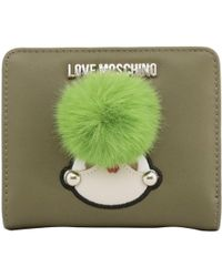 Moschino - Love Green Faux Leather Coin Purse - Lyst