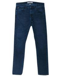 Burberry - Brit Indigo Dark Wash Denim Slim Fit Jeans M - Lyst