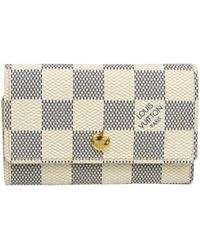 Louis Vuitton Damier Azur Canvas 6 Key Holder