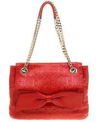 Carolina Herrera - Monogram Leather Audrey Shoulder Bag - Lyst