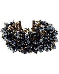 CH by Carolina Herrera - Beads Gold Tone Wide Bracelet 17cm - Lyst