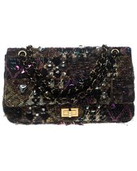 Chanel - Tweed And Jeweled Limited Edition Lesage Reissue Flap Bag - Lyst 12b3fade9ca23
