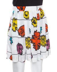 bf9262eab5 Shakuhachi Flower Bomb Embroidered Mini Skirt in White in White - Lyst
