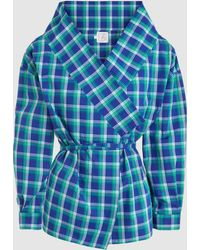 Stella Jean - Plaid Cotton Wrap Shirt - Lyst