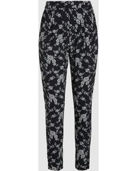 Co. - Monochrome Floral Print Trousers - Lyst