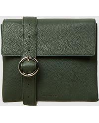 Jil Sander - Folded Mini Textured-leather Shoulder Bag - Lyst