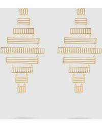 Arme De L'Amour - Stripe Chandelier Drop Earrings - Lyst
