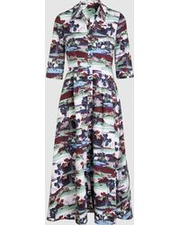 Erdem - Kasia Printed Cotton Midi Dress - Lyst